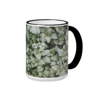 Lamium maculatum (White Nancy) mug