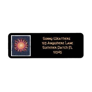 Lammas/Lughnasa Sun Harvest Pagan Return Address Label