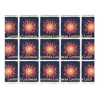 Lammas/Lughnasa Sun Harvest Pagan Postcard