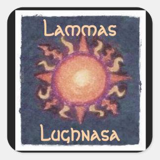 Lammas/Lughnasa Sun Harvest Pagan Square Sticker