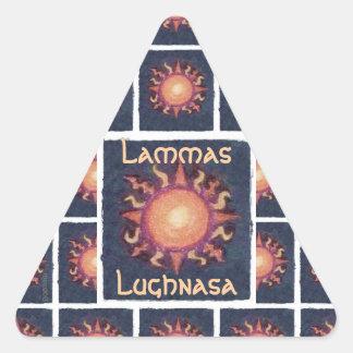 Lammas/Lughnasa Sun Harvest Pagan Triangle Sticker