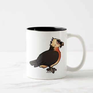 Lammergeier lindo taza de café de dos colores