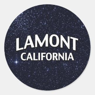 Lamont California Pegatina Redonda