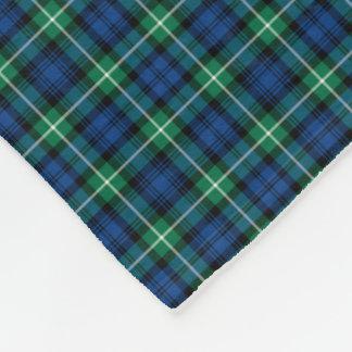 Lamont Clan Bright Blue and Green Tartan Fleece Blanket