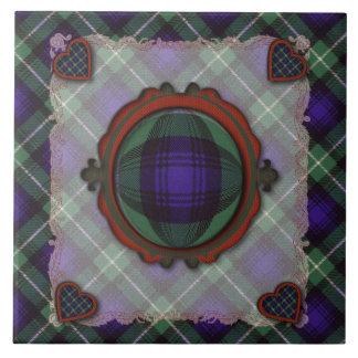 Lamont Scottish clan tartan - Plaid Ceramic Tile