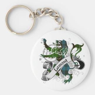 Lamont Tartan Lion Basic Round Button Keychain