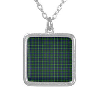 Lamont Tartan Square Pendant Necklace