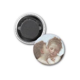 L'Amour et Psyche enfants 1 Inch Round Magnet