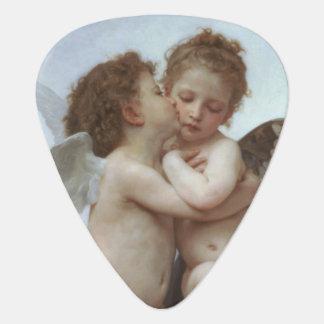 L'Amour et Psyche enfants by William A. Bouguereau Guitar Pick