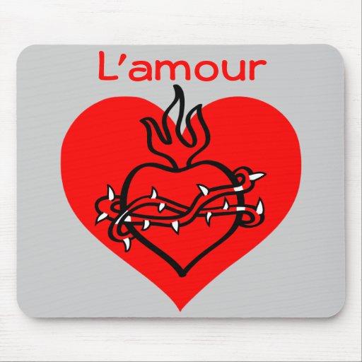 L'amour heart mousepad