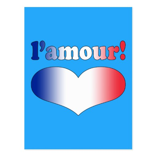 L'Amour Love in French Romantic Valentine's Day Post Cards