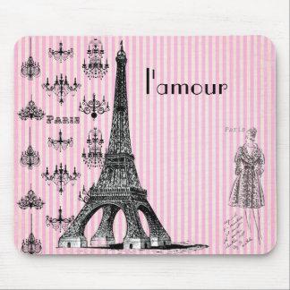 l'amour Paris Mouse Pad, love Paris mouse pad