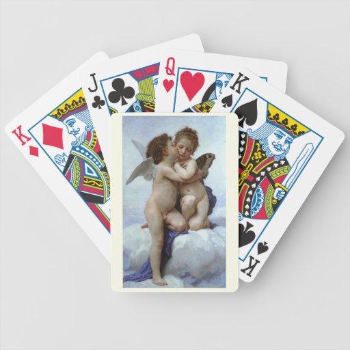 L'Amour y psique, enfants (Cupid) de Bouguereau Baraja Cartas De Poker