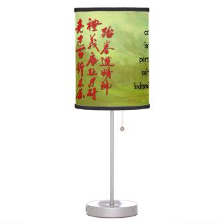 Lamp -5 Tenets of Martial Arts