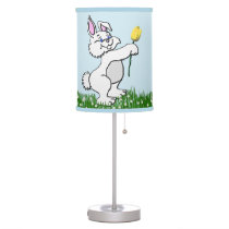 Lamp - Accent - Two Bunnies & Tulips