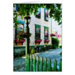 Lamp and Window Boxes Greeting Card