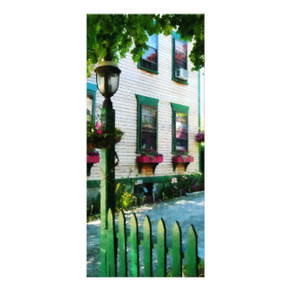 Lamp and Window Boxes Personalized Rack Card