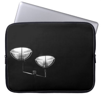 Lamp covering laptop sleeve