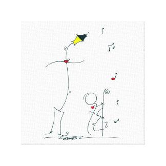 Lamp Dance Canvas Print