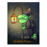 lamp-gnome greeting card postcard