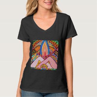 Lamp Hands Joined Together : Nameste VNECK Shirt