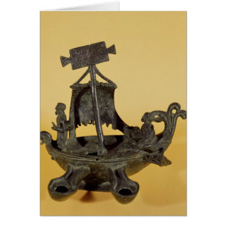 Lamp in the form of a boat card