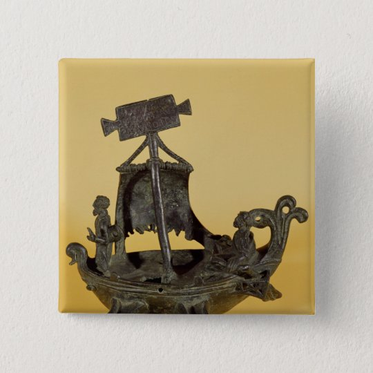 Lamp in the form of a boat pinback button