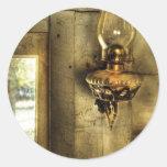 Lamp - Kerosene Lamp Round Stickers