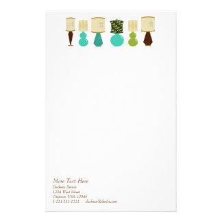 Lamp Line-Up Stationery Design