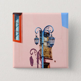Lamp post and painted buildings, Caminito, La Button