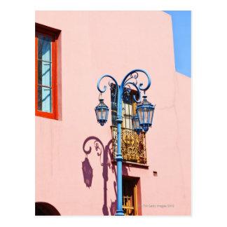 Lamp post and painted buildings, Caminito, La Postcard