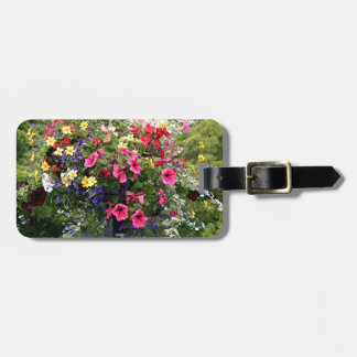 Lamp post & flowers luggage tag