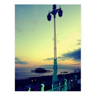 Lamp post in Brighton, UK Postcard