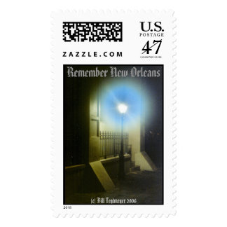 Lamp post in New Orleans Postage