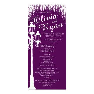 Lamp Post Industrial Glam Sparkle Purple Rack Card
