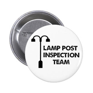 Lamp Post Inspection Team 2 Inch Round Button