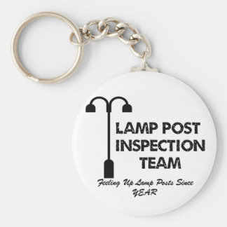 Lamp Post Inspection Team Basic Round Button Keychain