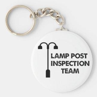 Lamp Post Inspection Team Basic Round Button Keychain
