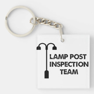 Lamp Post Inspection Team Geocaching Keychain
