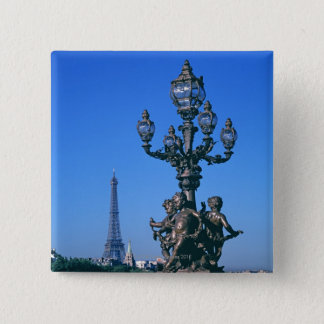 Lamp post on Pont Alexandre III Bridge and Button