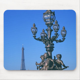 Lamp post on Pont Alexandre III Bridge and Mouse Pad