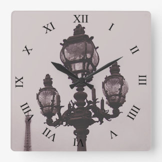 Lamp Post on Pont Alexandre III Bridge Clock