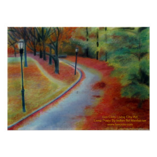 Lamp Posts By Indian Rd Manhattan Print