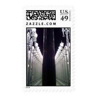 Lamp posts postage stamps