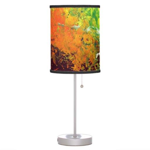 Bright Green Lamp Shade : Lamp shade in abstract bright green orange zazzle