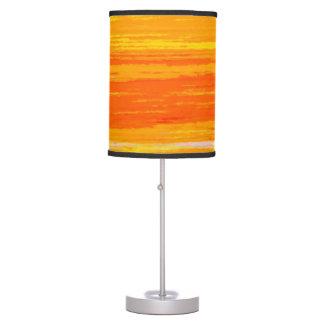 Lamp & shade - Streaky Oranges / Yellows
