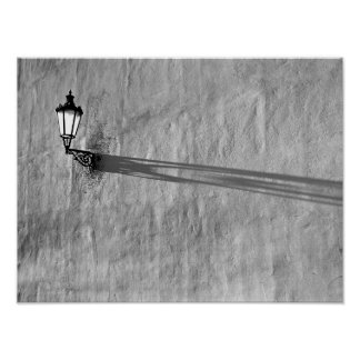 lamp shadow on wall poster