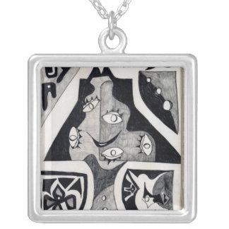 Lamp Square Pendant Necklace