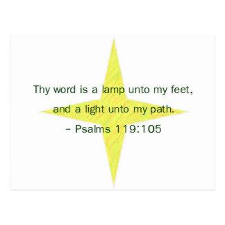 Lamp Unto My Feet Postcard