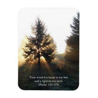 Lamp Unto My Feet Scripture Rectangular Photo Magnet